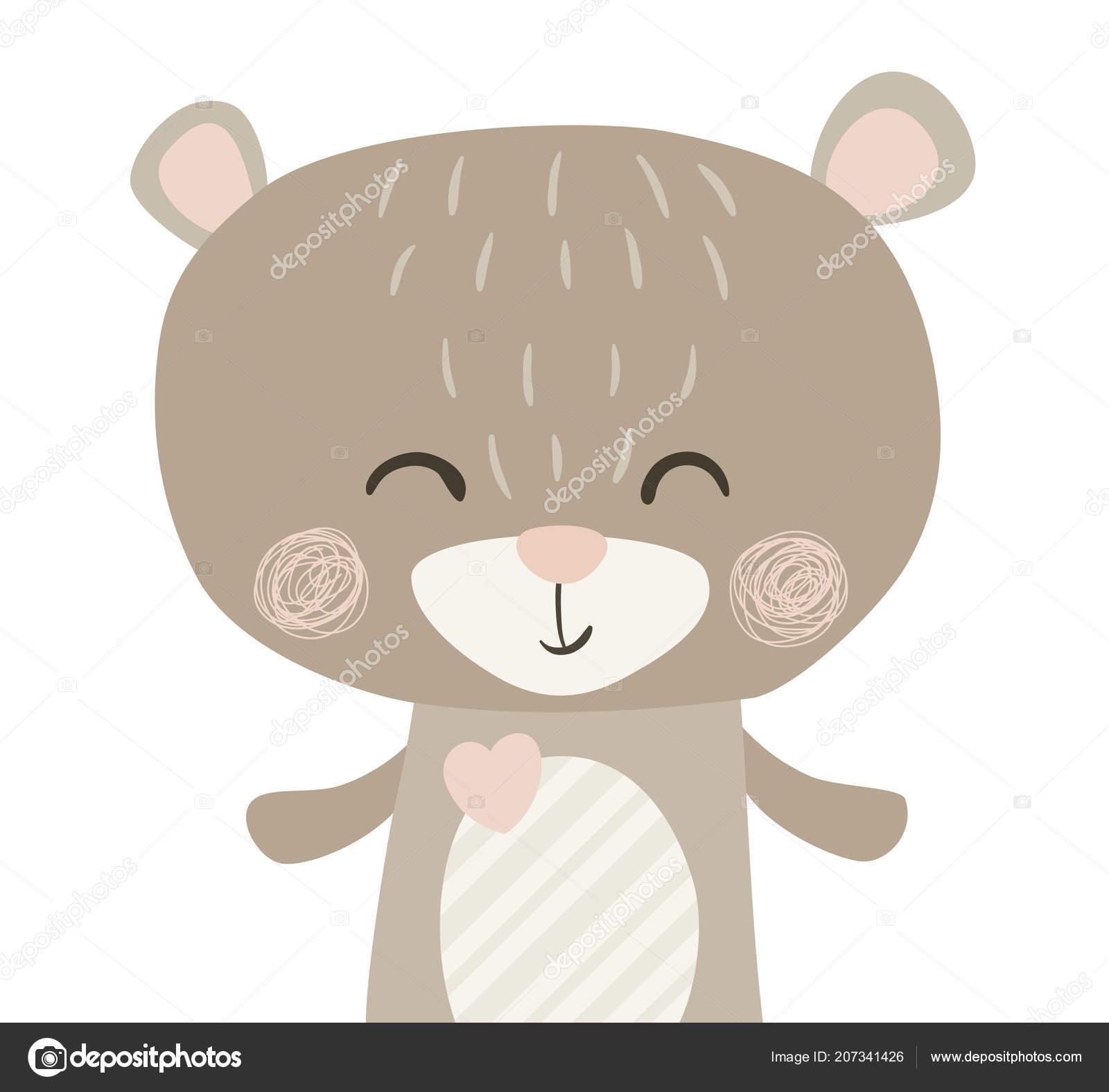 a16a41e2 Bear cute print — Stock Vector © nordfox #207341426