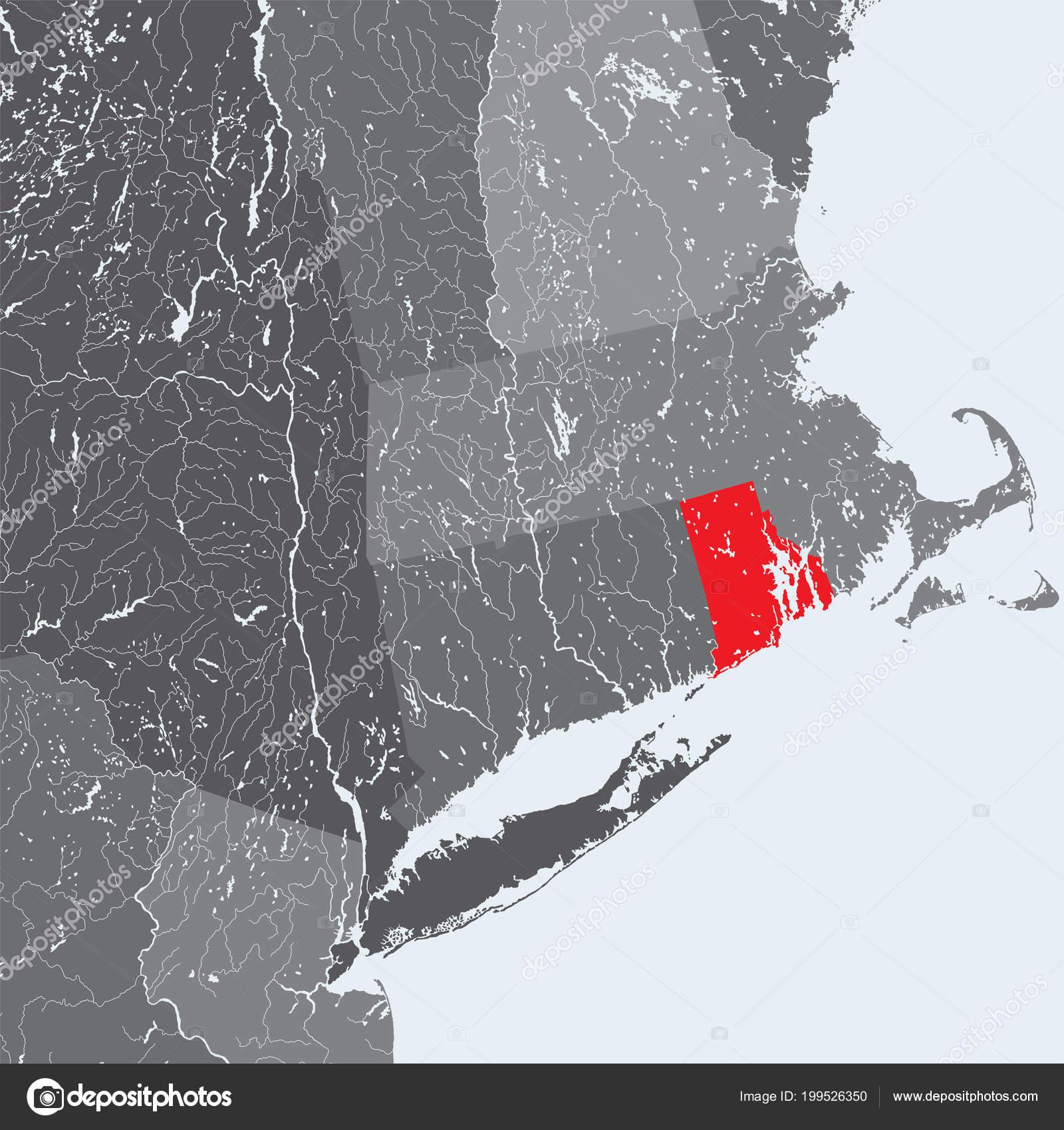States Northeastern United States Rhode Island Hand Made Map ...