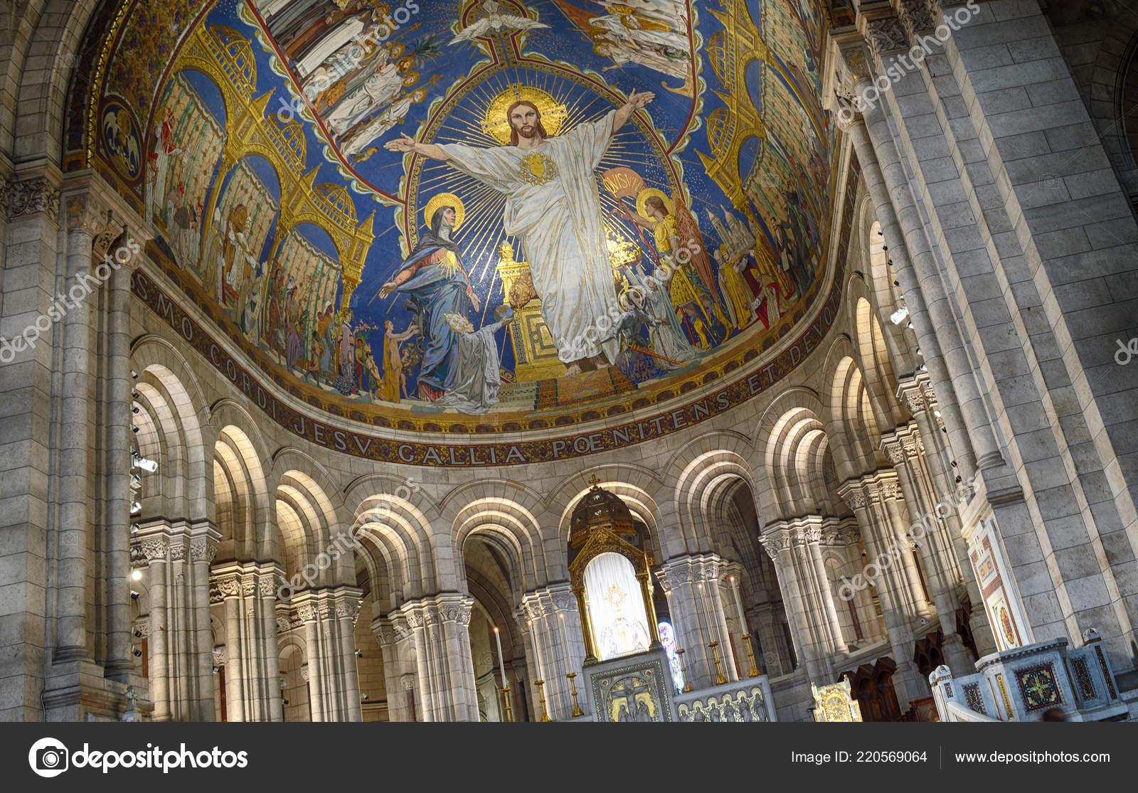 Fragment Interior Basilica Sacre Coeur Montmartre Paris France