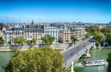 View of Paris at sunny day.
