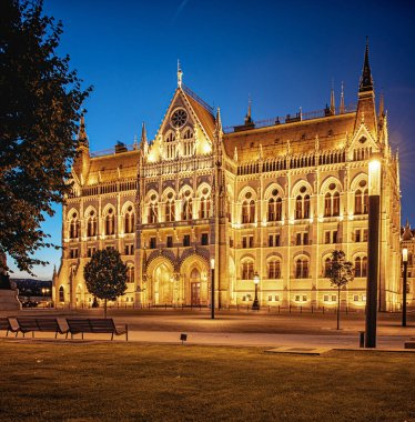 Night view on the Hungarian Parliament