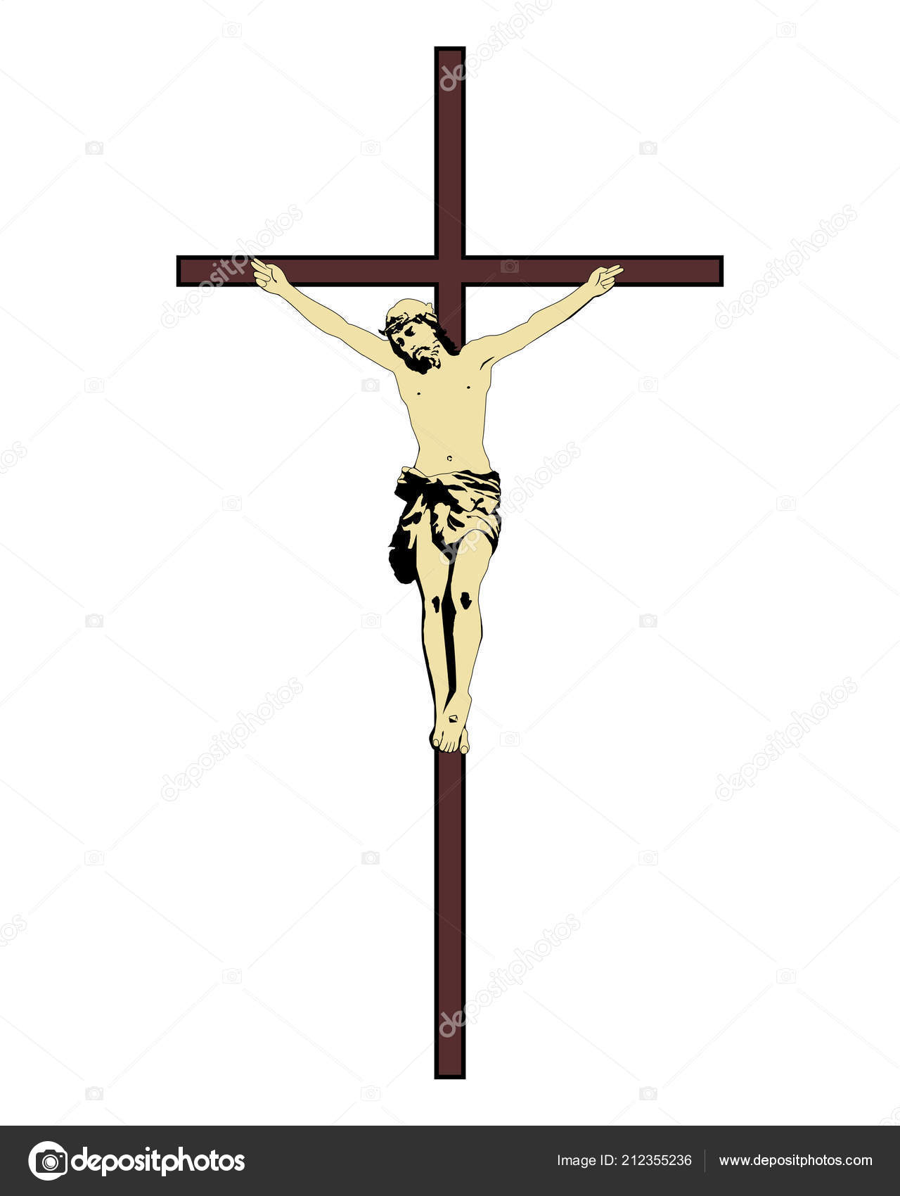 5d2fbab86 Jesus Cristo na Cruz — Vetor de Stock © mayboro  212355236