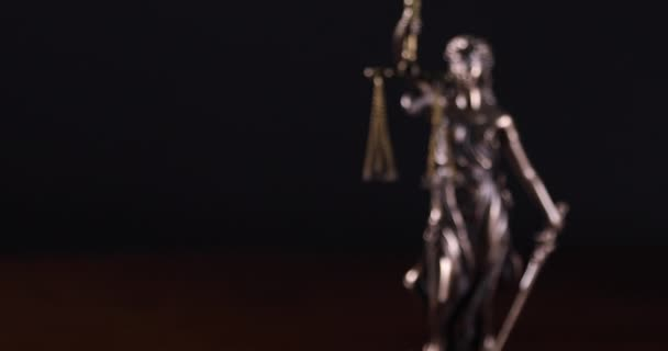 Slow Panning of Lady Justice Statue.