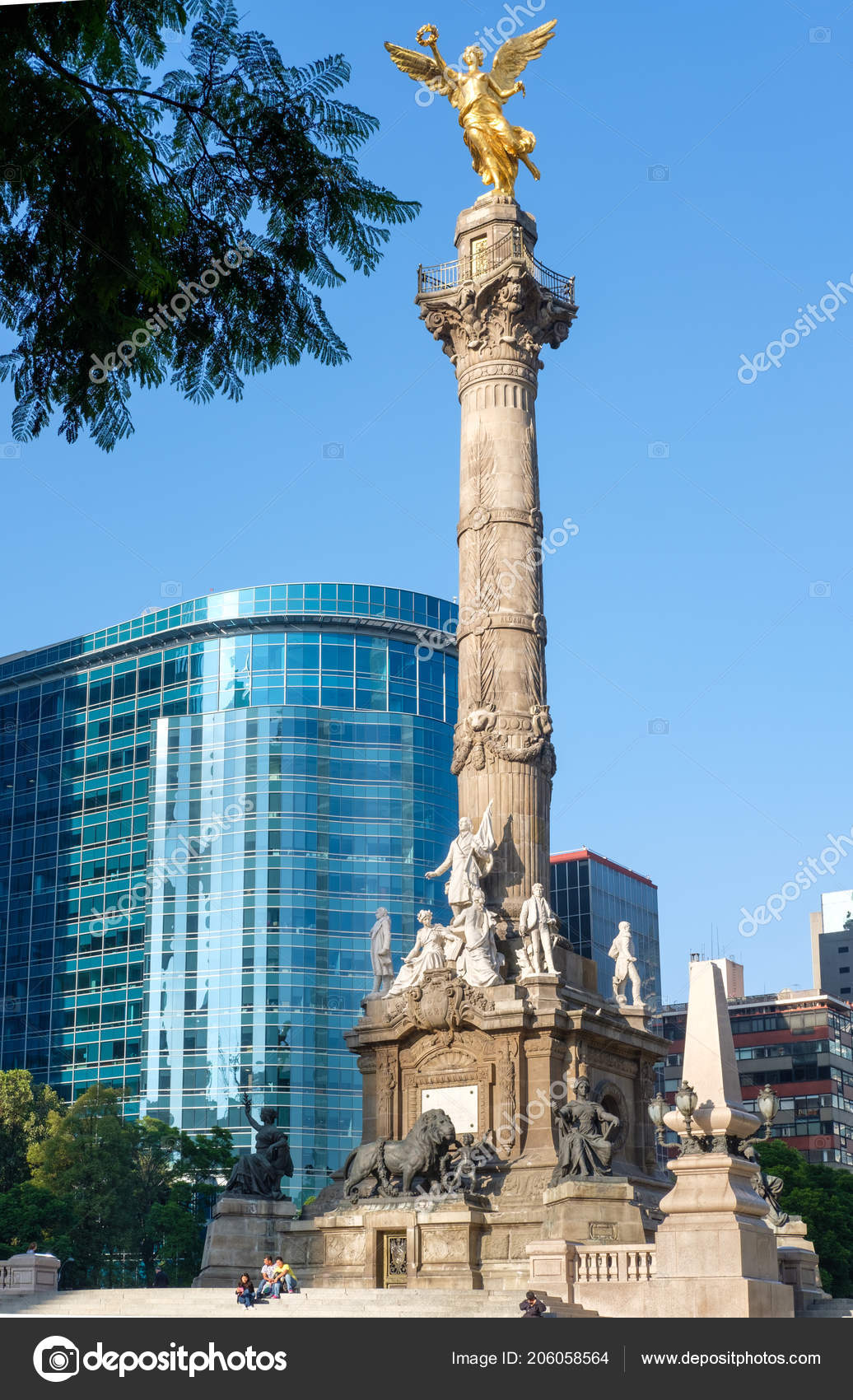 Angel Independence Paseo Reforma Worldwide Known Symbol Mexico City