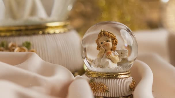 Footage of Christmas cute dreamy angel decoration for the advent season