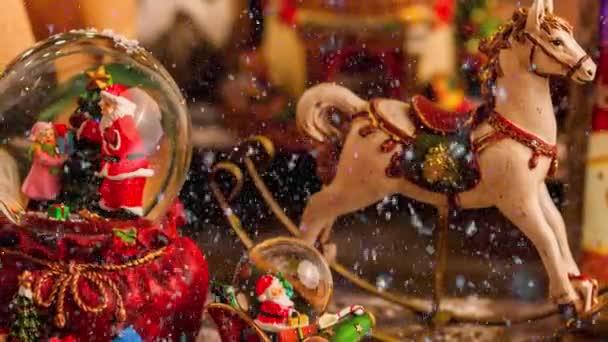 Filmaufnahmen verschiedener Weihnachtsdekorationen für die Adventszeit