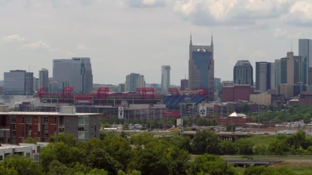 Nashville Estados Unidos Agosto 2018 Imagens Aéreas Nissan Stadium Centro U2014  Vídeo ...