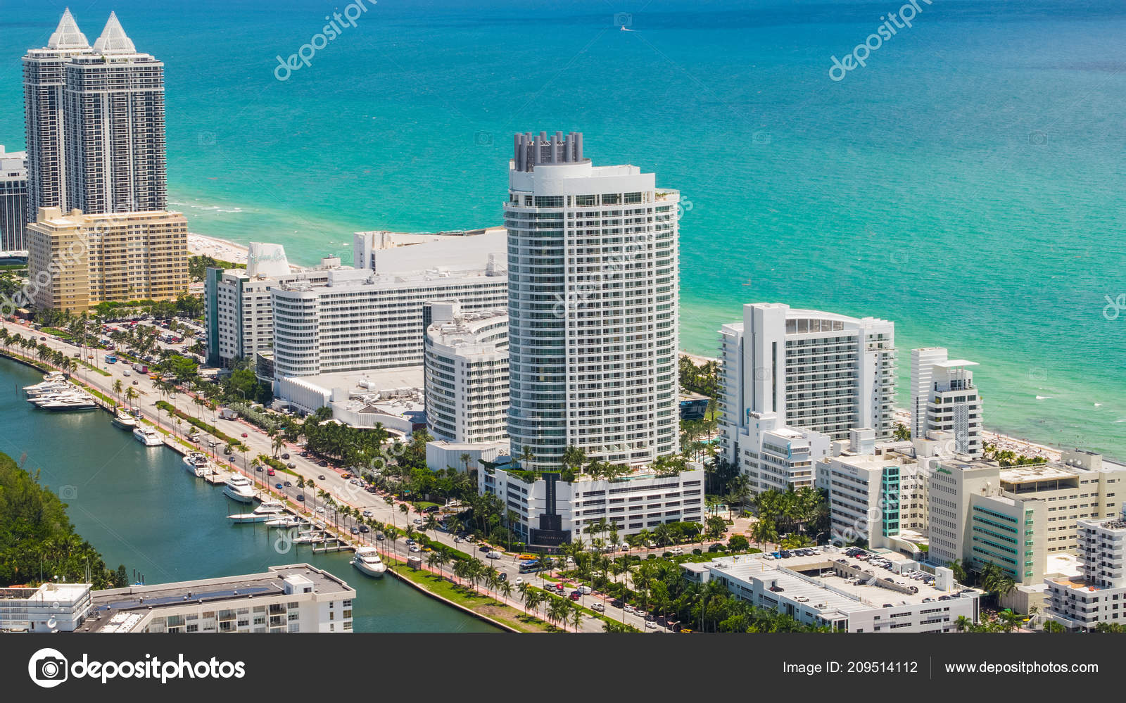 Luftaufnahme Von Fontainebleau Hotel Miami Beach 44th Street Collins