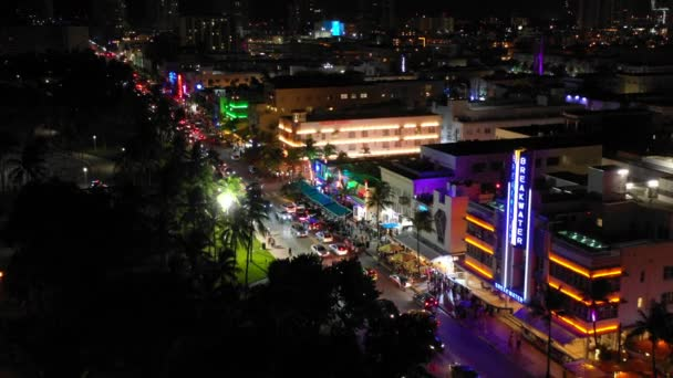 Miami Beach Night Footage Labor Day Weekend Aerials