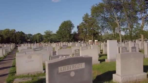 Motion footage Montefiore Cemetery Jenkintown PA 4k 60p