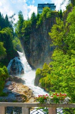 Gasteiner Ache creating the Bad Gastein waterfall, Pongau, Salzburg, Austria