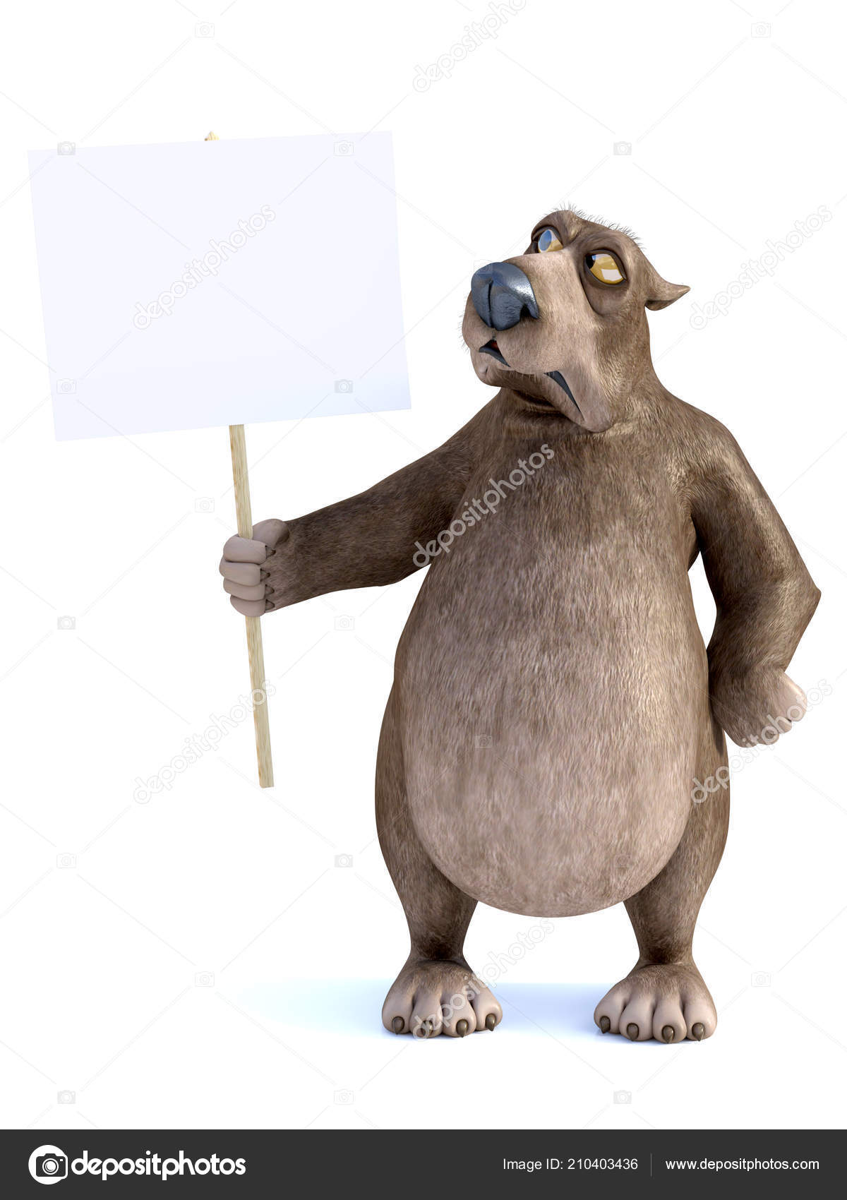L orso del personaggio dei cartoni animati si è vestito nei
