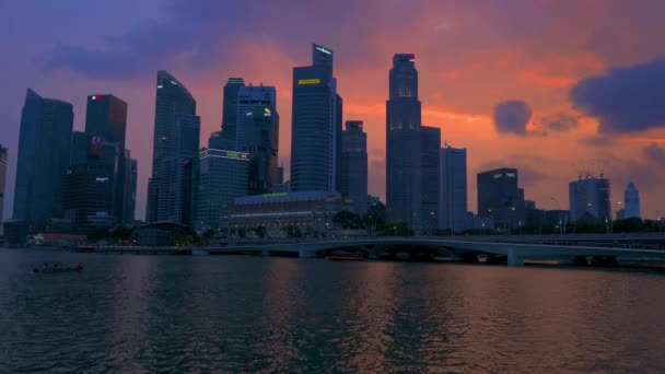 Singapore, Singapore - APRIL 1, 2019: View at Singapore City Skyline, which is the iconic landmarks of Singapore