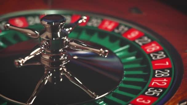 Ruleta stůl Pomalý pohyb zavřít v kasinu - Selektivní zaměření