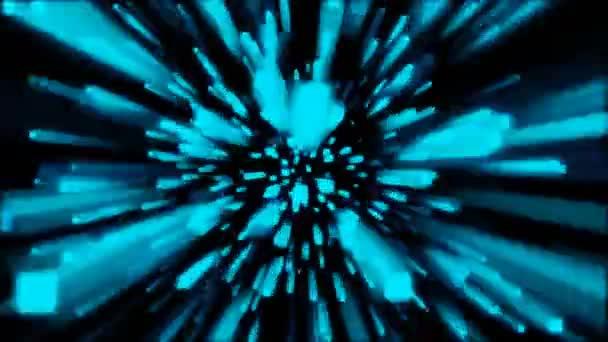 Modrá barva geometrický tvar. Pohyb na abstraktní pozadí