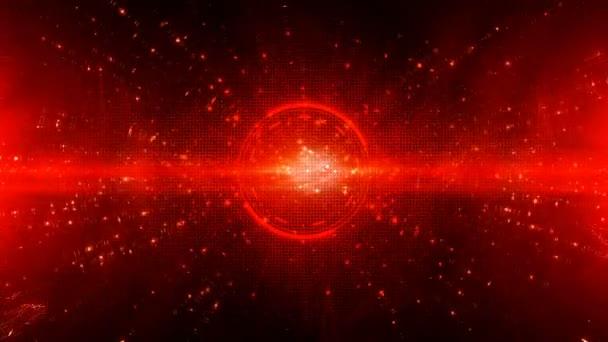 Hi-Tech digitálních animací abstraktní pozadí červené barvy