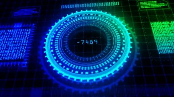 Hi-Tech Hud digitális kijelző holografikus háttér
