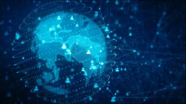 Hálózati technológia és az üzleti információ emberek és a föld kép által nyújtott Nasa