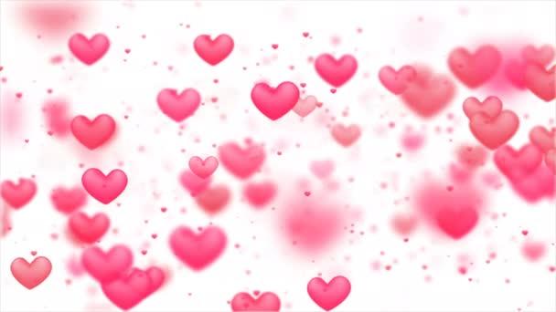 Valentines pozadí, abstraktní srdce tvar a částice