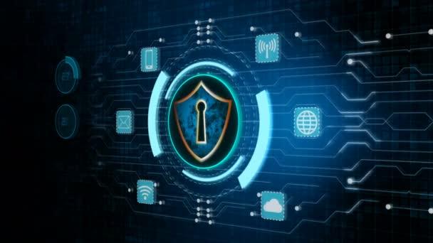 Štít ikonu a zabezpečení síťové komunikace, Cyber bezpečnostní koncepce.