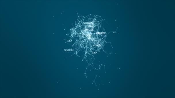 Technologie-Netzwerk mit Lampe digitalen blauen Hintergrund kreative Idee für Netzwerk in der Welt digitales Konzept