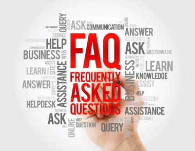FAQ - Frequently Asked Questions word cloud, business concept background