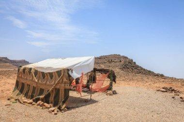 Abandoned shelter in Omani desert