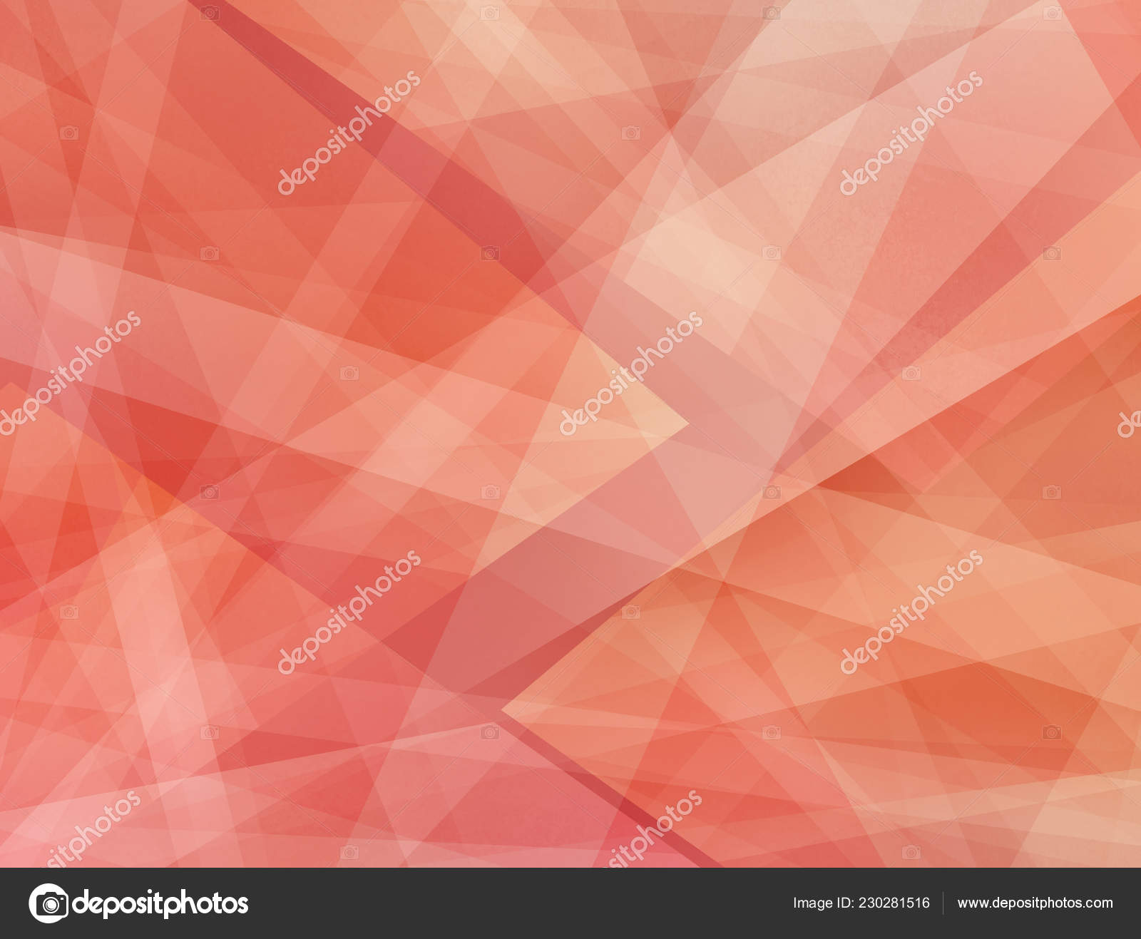 Abstract Red Pink Orange Background Layers White Stripes Triangle