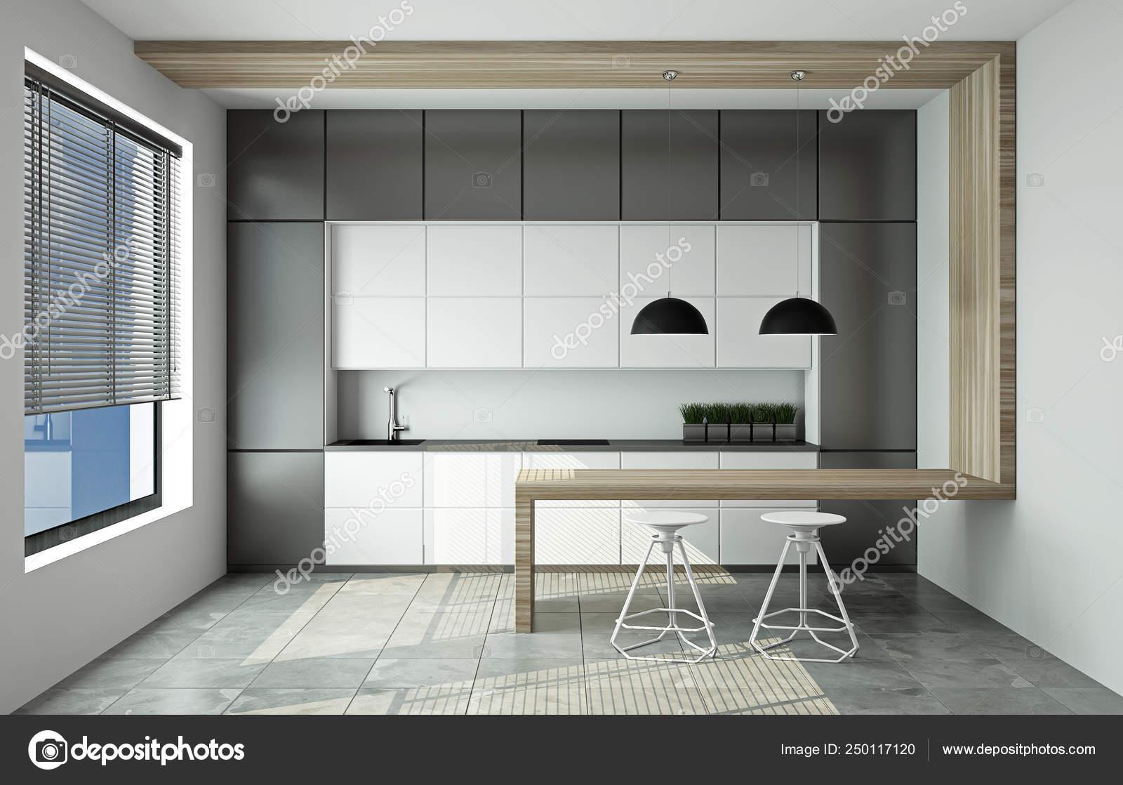 Modern Kitchen Set 3d Rendering Stock Photo Image By C Mak Nt 250117120