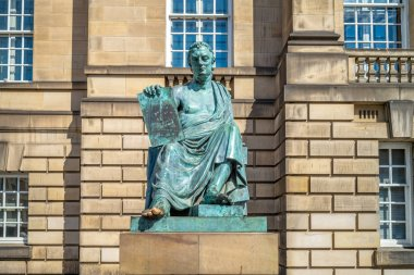 Statue of David Hume, on Royal Mile in Edinburgh