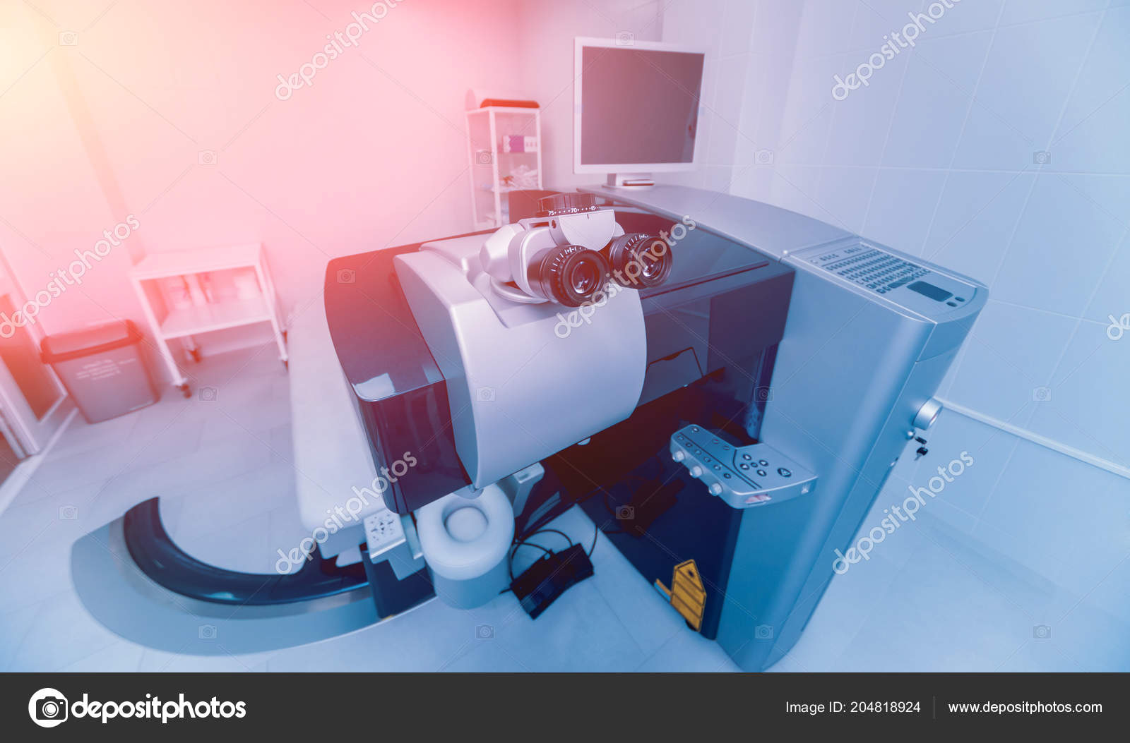 Sistema Laser Oftalmologia Clínica Cirurgia Olhos Treatmnet Laser Para  Miopia — Fotografia de Stock 1bd64818a9