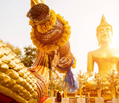 Symbols of Buddhism. South-Eastern Asia. Details of buddhist temple in Thailand. Backgrounds