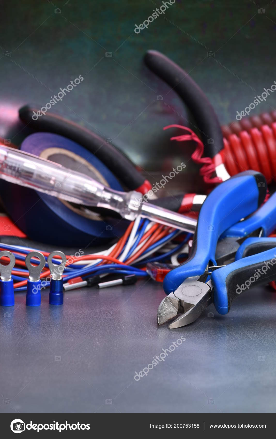Remarkable Electrical Hand Tools Accessories Stock Photo C Zetor2010 200753158 Wiring Cloud Hisonuggs Outletorg