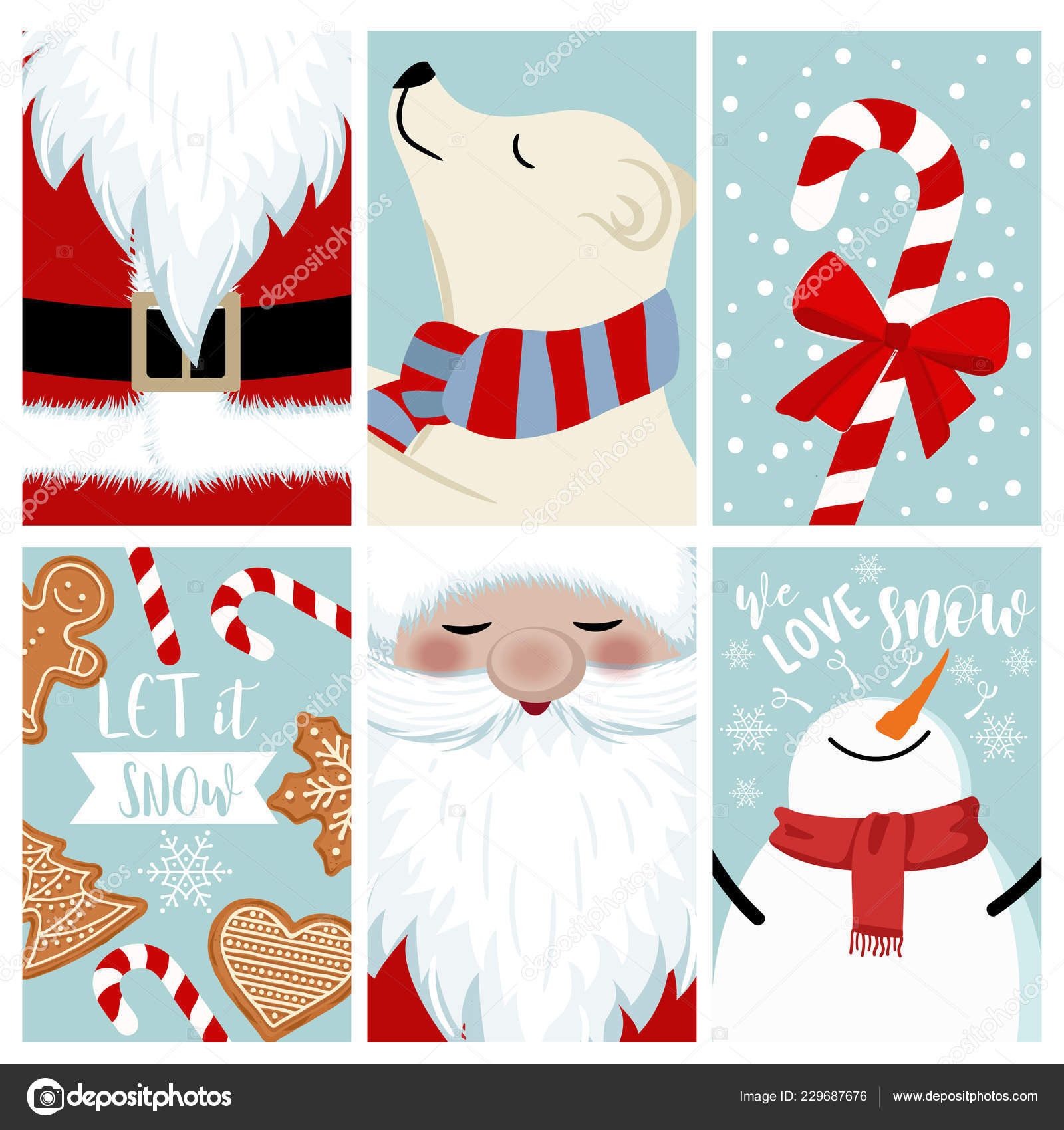 Christmas Sale Card Collection Isolated Items — Stock Vector