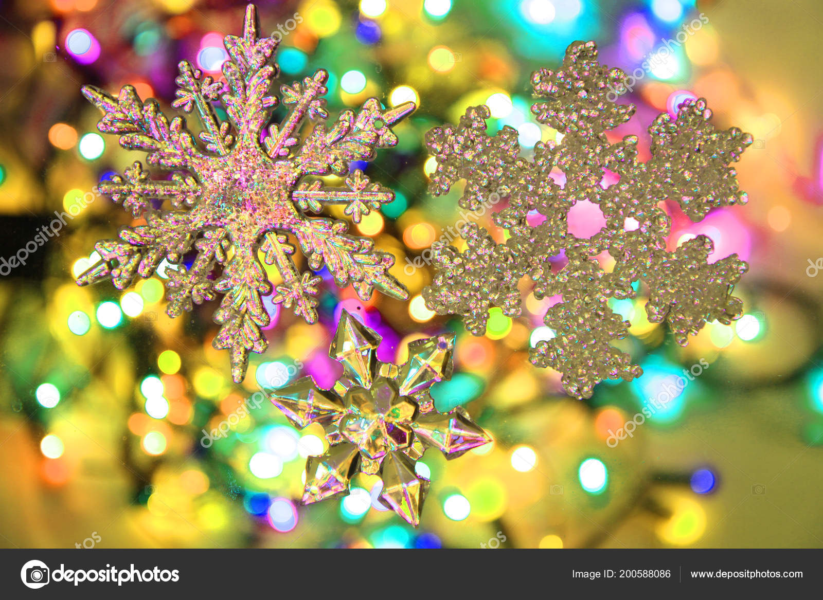 color christmas lights decorative object nice background stock photo