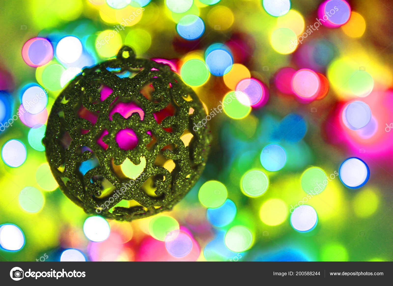 Color Luces Navidad Con Objeto Decoración Que Lindo Fondo — Foto de ...