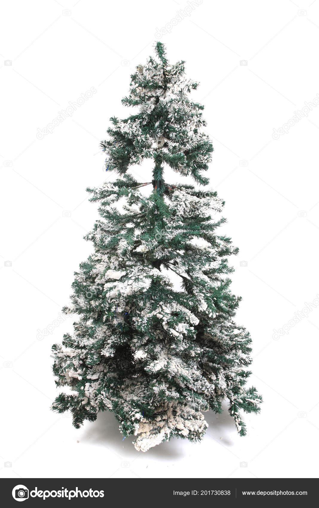 Weihnachtsbaum Kunstoff.Kunststoff Weihnachtsbaum Auf Dem Weißen Hintergrund Isoliert