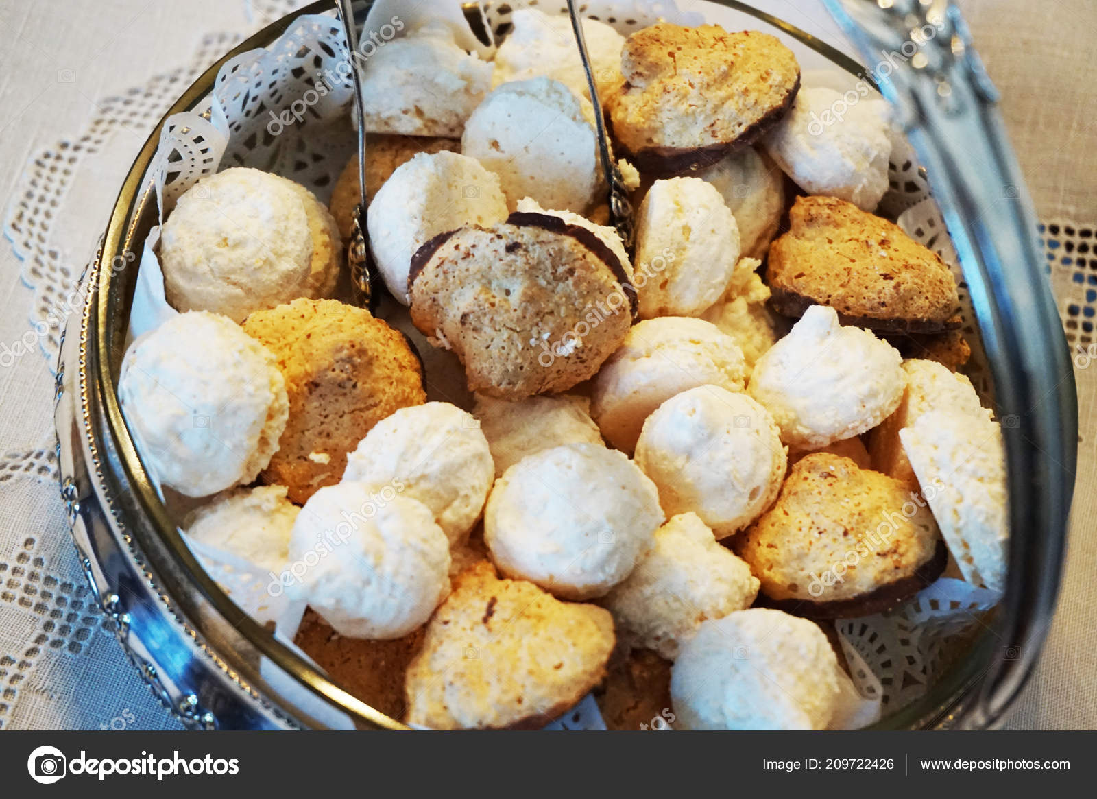 Czech Christmas Cookies Very Nice Holiday Background Stock Photo