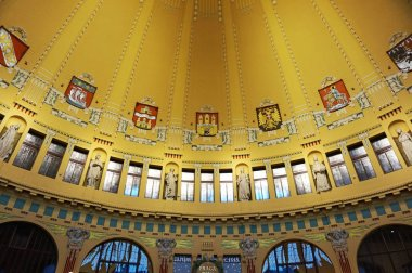 Prague main station old interior as nice background