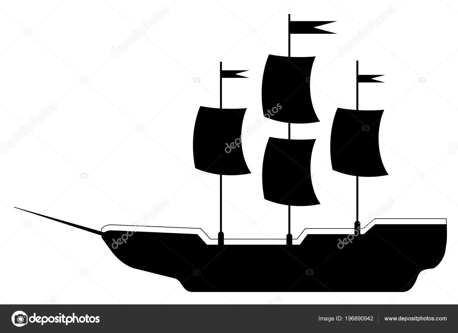 Gemi Gezi Vektör Eps Basit çizimi Stok Vektör Leonardo255 196890942