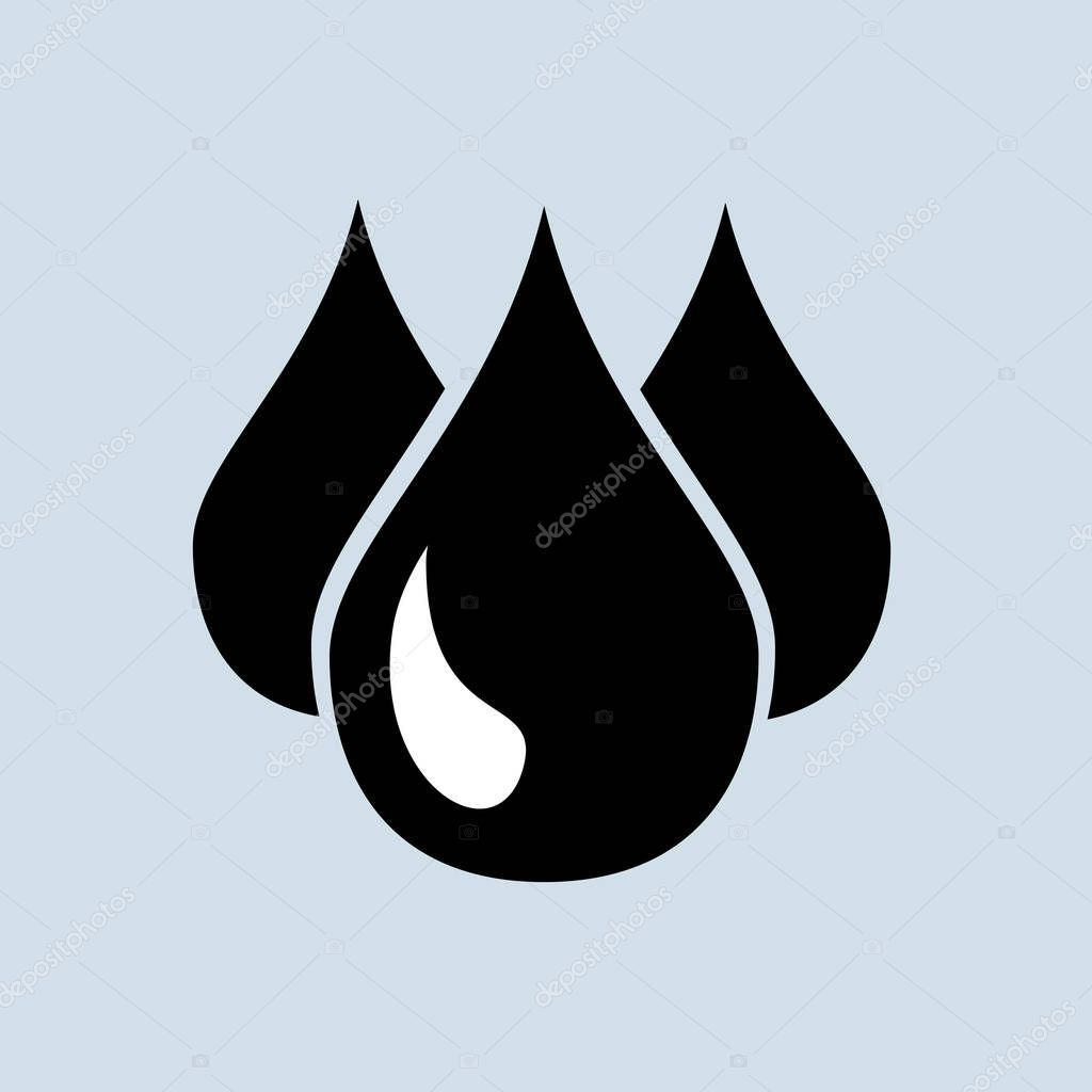 Drops icon modern icon for graphic and web design vector eps 10