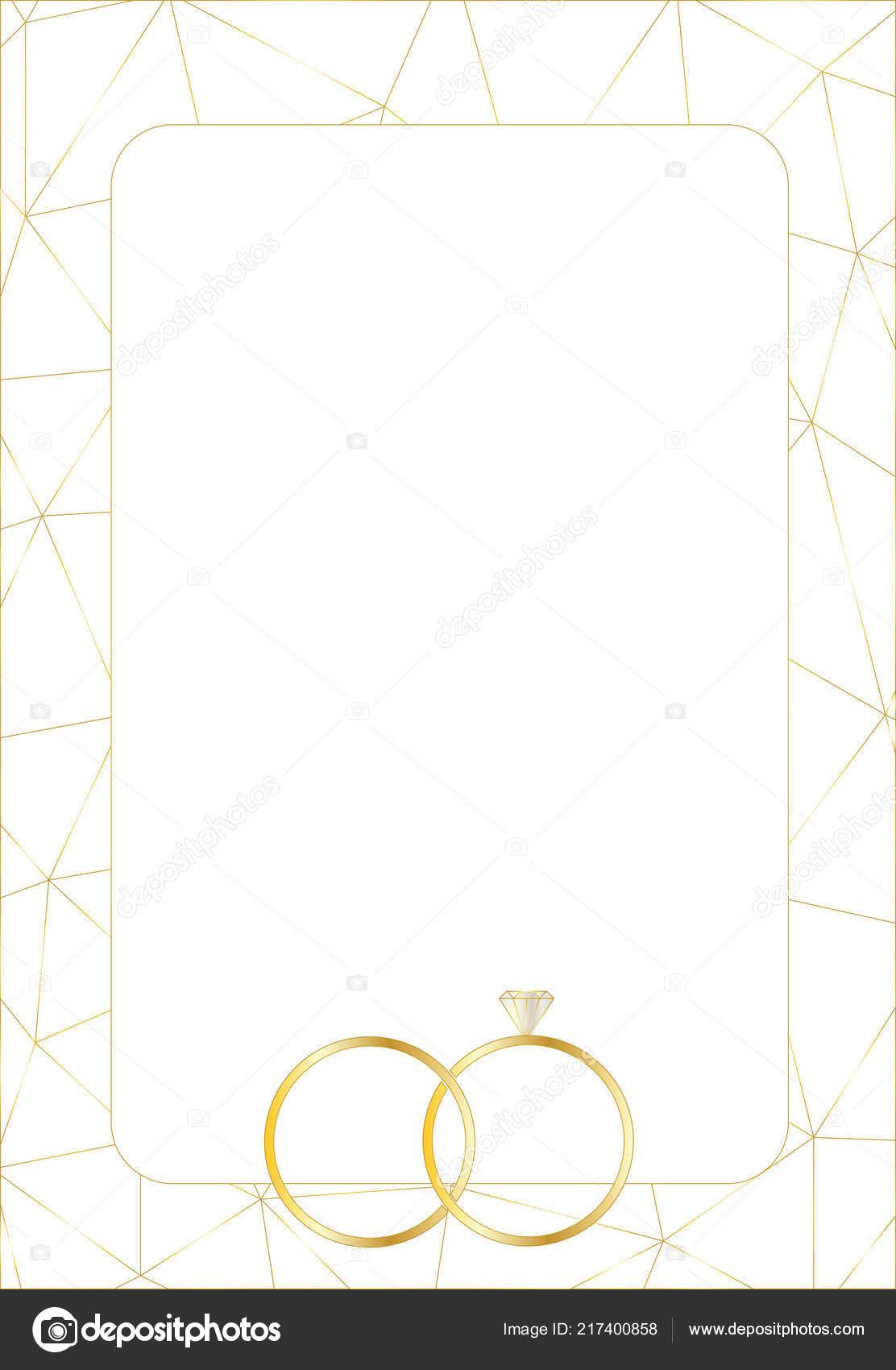 Design Layout Vorlagen Fur Hochzeitskarten Mit Ringe Vektor Eps