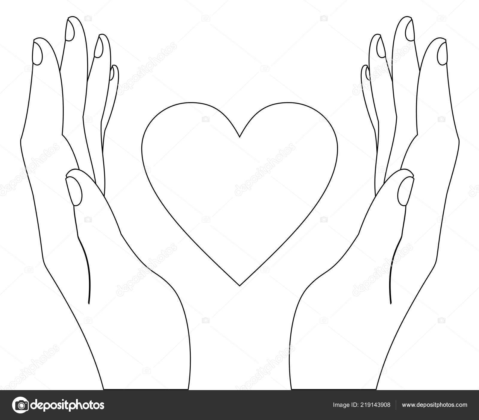 Шаблоны сердце в руках