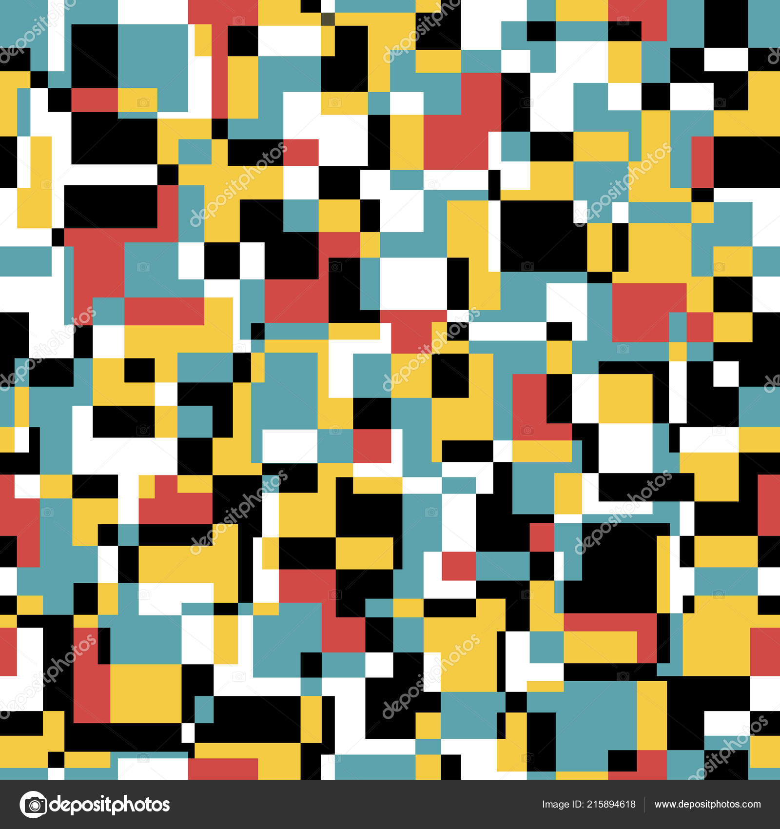 Laut Musterdesign In Retro Farben Vektorgrafiken Stockvektor