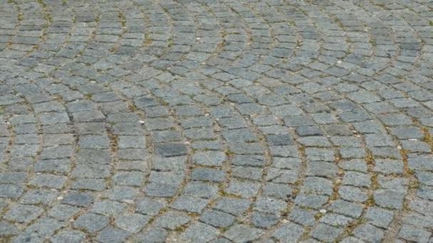 Paving of granite rocks. Background.