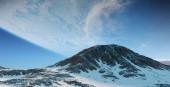 Fotografie Exoplanet v prostoru pohled z hora 3d vykreslování prvků tohoto obrázku jsou podle Nasa