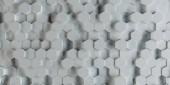Weißen abstrakten Sechsecke Hintergrund Muster 3D-Rendering