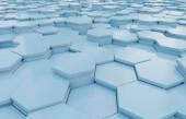 Blaue abstrakte Sechsecke Hintergrund Muster 3D-Rendering