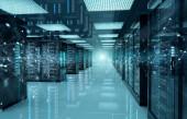 Fotografie Verbindungsnetzwerk in Servern Rechenzentrumsspeichersysteme 3