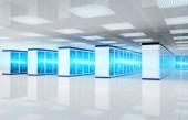 Elektrizität Blitz in Servern Rechenzentrum Raum Speichersystem